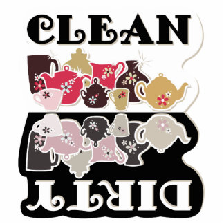 CLEAN-DIRTY Dishwasher Magnet - Sculpture Magnet Photo Sculpture Magnet