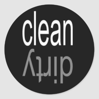 Clean/Dirty Dishwasher Magnet Round Stickers