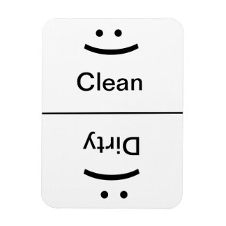 Clean Dirty Magnet (Smile/Frown)