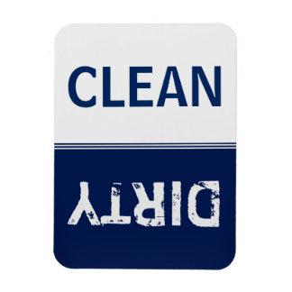Clean Dirty Navy Blue Dishwasher Rectangular Photo Magnet