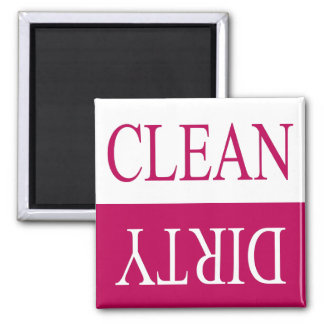 Clean dirty-Pink dishwasher magnet