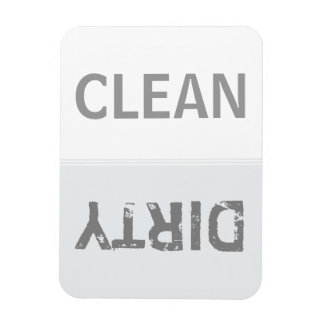 Clean Dirty Snow White Dishwasher Magnet