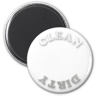 Clean/Dirty White and Gray Dishwasher Magnet