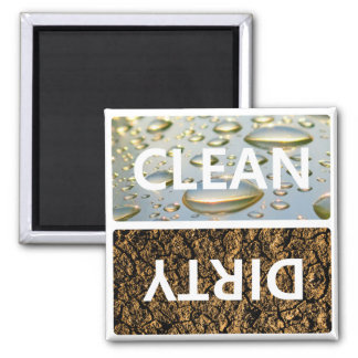 Clean Dirty With Customizable Background Colour Magnet