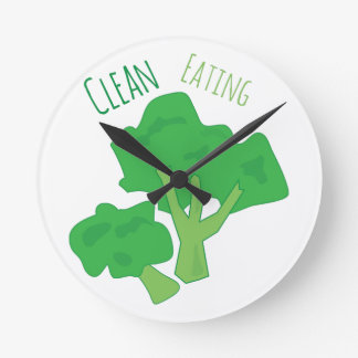 Clean Eating Round Clock