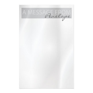 Clean Elegant Pale Gray Notepad Customized Stationery