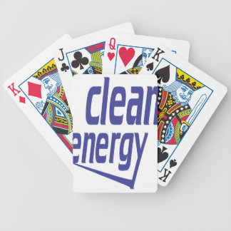 Clean energy bicycle playing cards