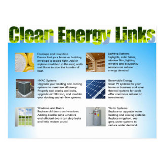 Clean Energy Business Marketing Double Sided Postcard