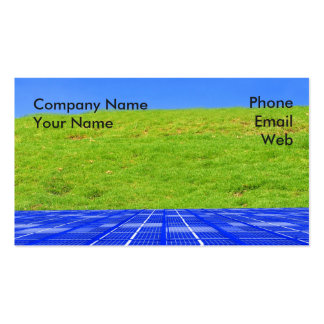 Clean Energy Concept Business Card