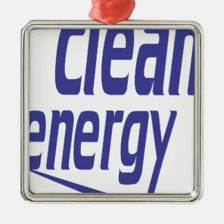 Clean energy metal ornament