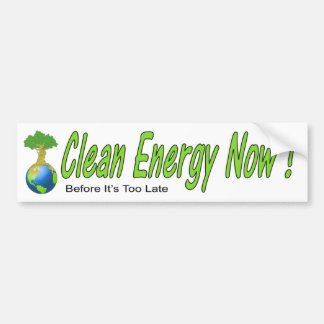 Clean Energy Now! Bumper Sticker