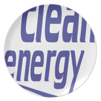 Clean energy plate