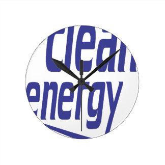 Clean energy round clock