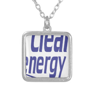 Clean energy silver plated necklace