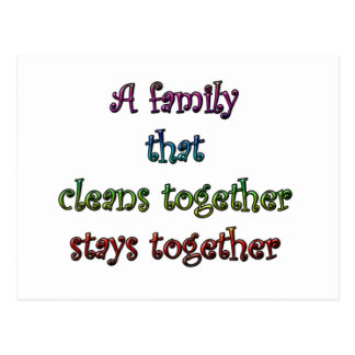 Clean Family Postcard