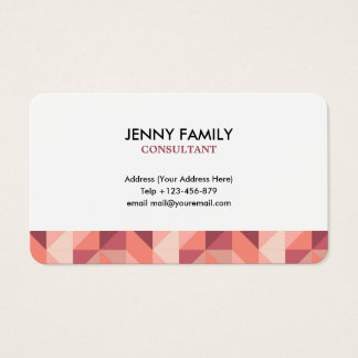 Clean Geometric Business Card