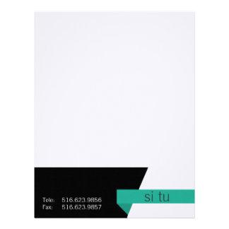 Clean graphic business sets letterhead design