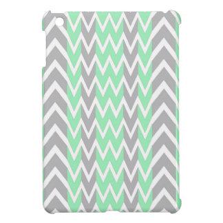 Clean Gray and Green Chevron Humps iPad Mini Cases