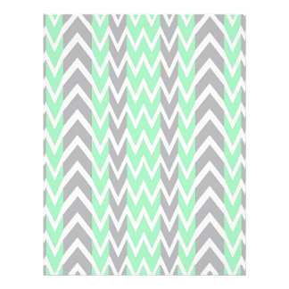 Clean Gray and Green Chevron Humps Letterhead