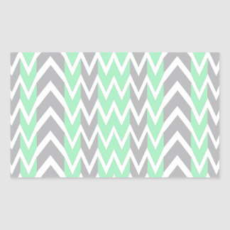 Clean Gray and Green Chevron Humps Sticker