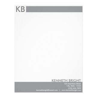 Clean Gray and White Letterhead