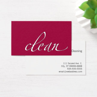 Clean Housecleaning Cleaner Business Card
