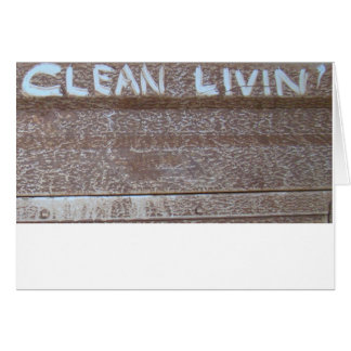 Clean Livin' 'Tailgate Talk' Greeting Card