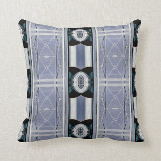Clean Monochromatic Masculine Blue Greyscale Throw Pillow