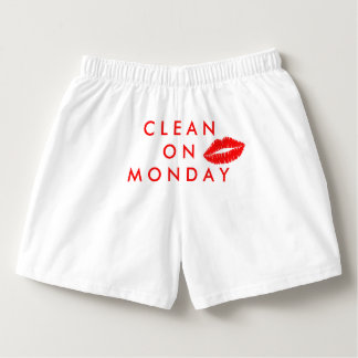 Clean On Monday Boxercraft Cotton Boxers, Red Kiss Boxers