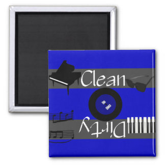 Clean or Dirty Blues Music Dishwasher Magnet