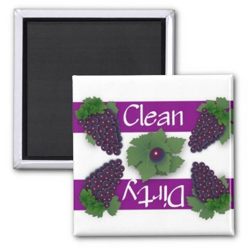 Clean or Dirty Grapes Dishwasher Magnet