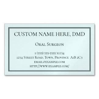 Clean Oral Surgeon Magnetic Business Card