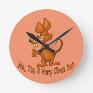 Clean Rat Round Clock