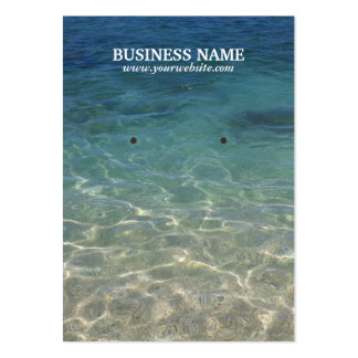 Clean Sand & Sea Water Earring Holder Large Business Card