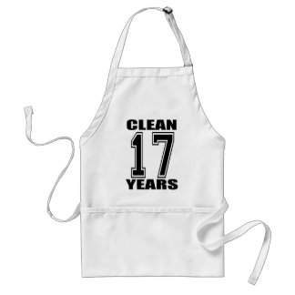 Clean seventeen years apron