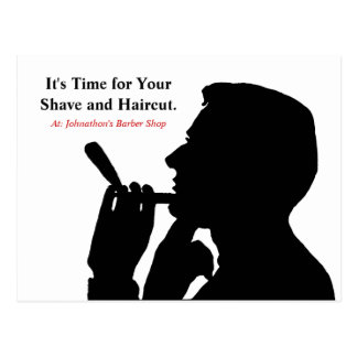 Clean Shave Barber Shop Hair Appointment Reminder Postcard
