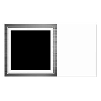 Clean Silver Metallic Edge Border Business Card