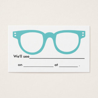 Clean & Simple Eye Doctor Appointment Card