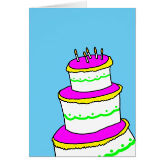 Clean Simple Minimalist Happy Birthday Greeting Card