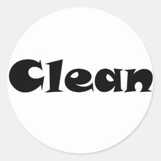 Clean Round Stickers