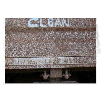 Clean 'Tailgate Talk' Greeting Card