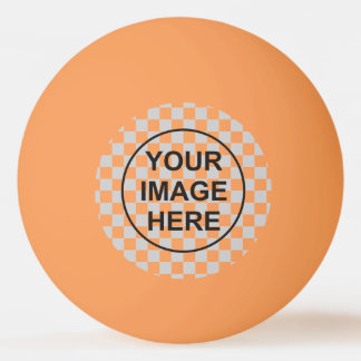 Clean template orange ping pong ball