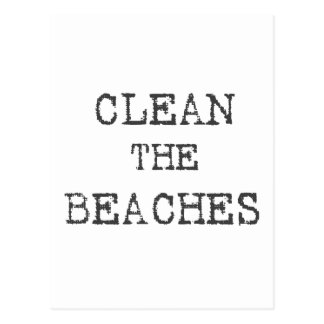 Clean The Beaches Postcard