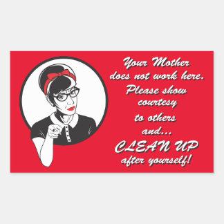 Clean up! sticker