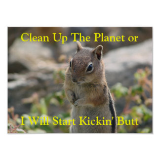 Clean Up The Planet Poster