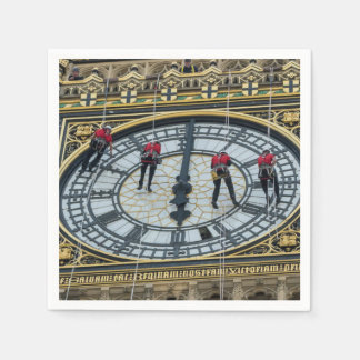 Cleaners on Big Ben London Paper Napkins