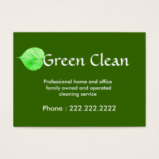 Cleaning Company, Green, Eco- Friendly, Nature Business Card