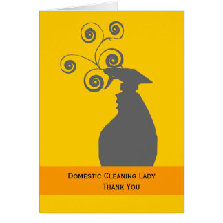 Cleaning Lady and Housekeeping Card