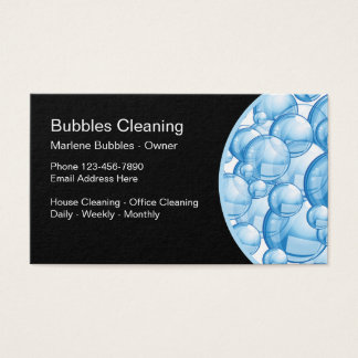 Cleaning Service Residential Commercial Business Card