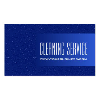Cleaning Service - Water Drops Pack Of Standard Business Cards